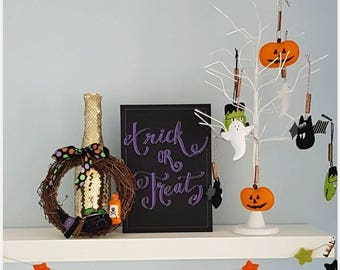 Trick or treat Halloween foamboard decoration