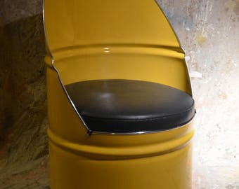 custom order for Jonathan Jonas Industrial Furniture Barrel Chair w/ vinyl padded seat. Choose your own color!