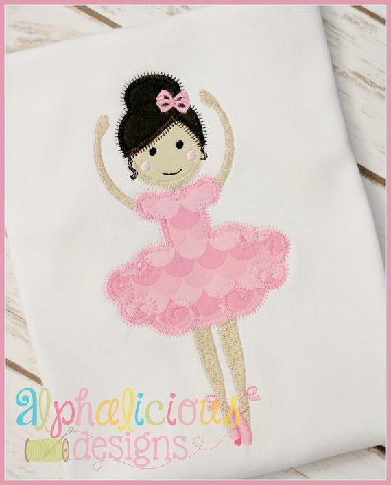Ballerina Applique, Ballerina Shirt, Ballerina