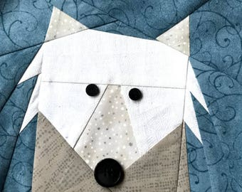 American Eskimo Paper Pieced Block Pattern in PDF