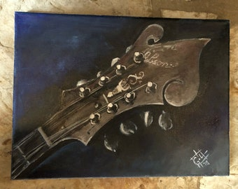 Mandolin Head - 8 x 10
