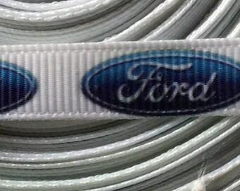 "4 Yards 3/8"" Ford Grosgrain Ribbon"