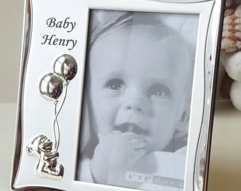 Personalised Baby Frame - Engraved Baby Details Photo Frame