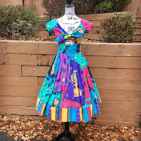 Peekaboo Dress Made with Vintage Pocahontas Sheets