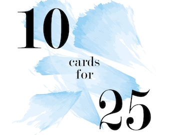 Mix and Match Cards - 10 for 25