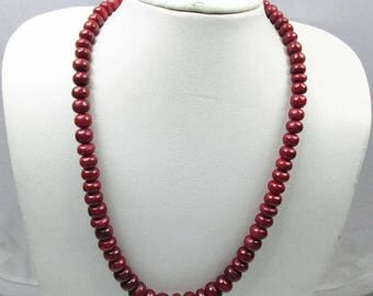 31% ON SALE Red Ruby Beads  Precious  Smooth Beads Gemstones Strand Pigeon Blood Take Bridal Jewelry Necklace !!!!