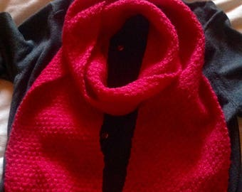 Set of two scarves fuchsia pink