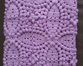 Crochet Baby Blanket, flower blanket, baby gift, baby shower, Handmade Blanket/Throw,Bassinet ,Lap Blanket, Cot Blanket,Ready To Ship