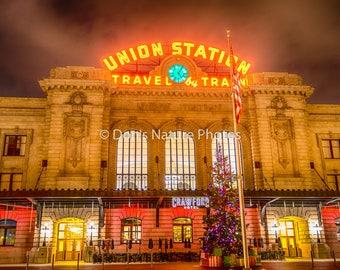 Holiday Lights, Union Station, Denver, Colorado.  12X18  #3017