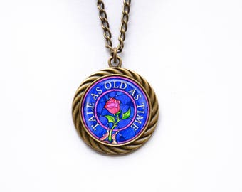 Necklace Beauty and the Beast Tale as old as time