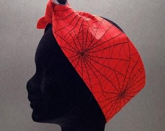Spiderweb Rockabilly Headband