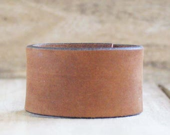 CUSTOM HANDSTAMPED suede brown leather cuff by mothercuffer