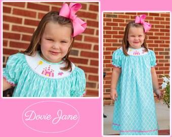 Princess Dress, Smocked Princess Dress, Toddler Princess Dress, Princess Birthday Dress, Smocked Bishop Dress, Smocked Fast Ship, Castle