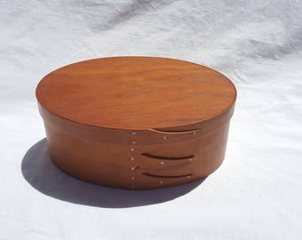 """3 Finger Oval 7"""" Wood Shaker Box"""