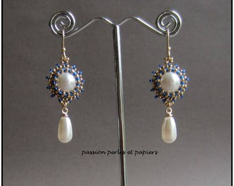 dangling Swarovski Crystal and gold plated earrings