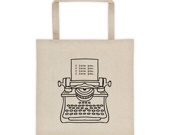 I love you typewriter Tote bag