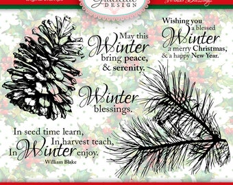 Winter Blessings Digital Stamp Set