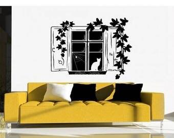 20% OFF Winter Sale Ivy Window deco wall decal, sticker, mural, vinyl wall art