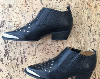 Vintage 1980s studded boots