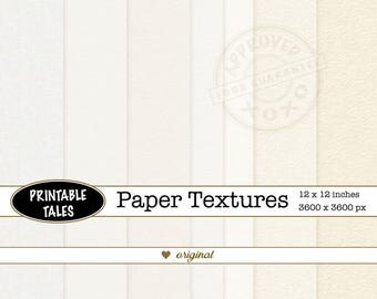 Paper texture background digital: heavy and light watercolor, cotton rag, card and rice papers, cream clean empty blank page, Commercial Use
