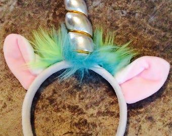 Stunning unicorn horn & ears headband