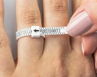 UK Ring Sizer | Plastic at Home Ring Sizer | UK Ring Measurement