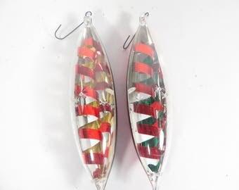 Vintage Jewelbrite Teardrop Ornaments - Plastic  Christmas Ornaments
