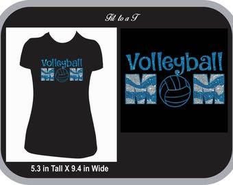 Volleyball Mom Glitter T-Shirt