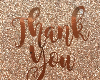 Personalised Thank You Foil Transparent Stickers Wedding Favour Personalized Labels Mr & Mrs