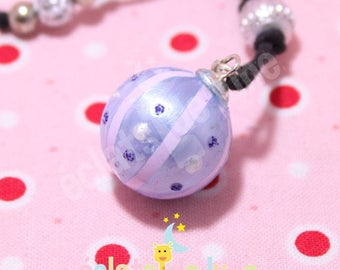 Pregnancy's Bola Bulan bola Xylophone Pearly blue and pale pink band