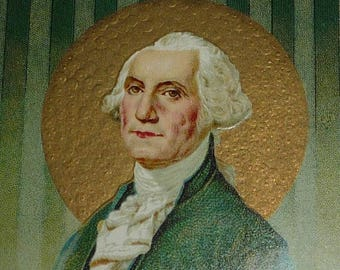 ON SALE till 7/28 George Washington Antique Postcard