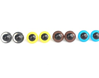 18mm  Plastic Eyes multiple colors available, Safety Eyes for Stuffed Animals,  you choose or buy more than one and mix and match
