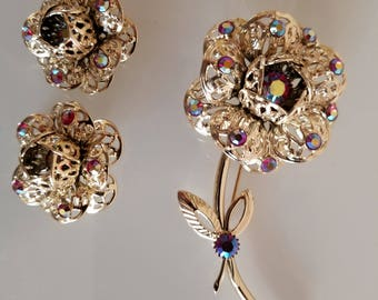 Vintage Brooch and Earrings by Sarah Covington