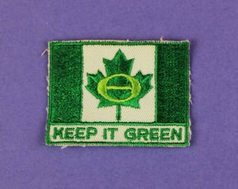 Keep It Green Canada Environment Vintage 1970s NOS Patch