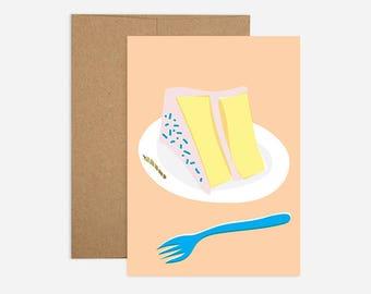 Cake Birthday Greeting Card