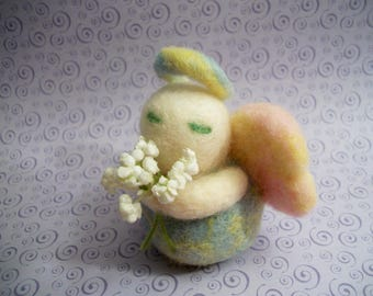 Handmade Angel, Simple Angel Figure, Angel Collectible, FeltWithAHeart