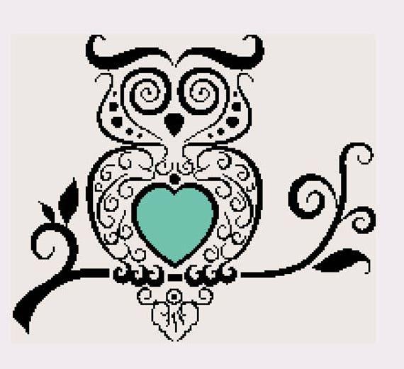 Simple Minimalist Owl Tattoo: Fancy Minimalist Owl Variation 3 Minimalist Tattoo Style