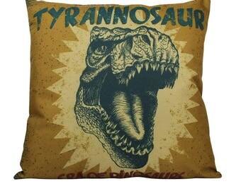 Trex | Pillow Cover | Tyrannosaur | Throw Pillow | T Rex | T-Rex | Boys Gift | Girls Gift | 18 x 18 | Playroom Decor | Dinosaur Birthday