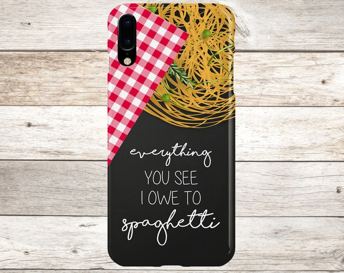 Featured listing image: Everything You See I Owe To Spaghetti Phone Case - iPhone X Case - iPhone 8 Plus - Tough iPhone Case - Galaxy s8 Phone Case - Food Quotes