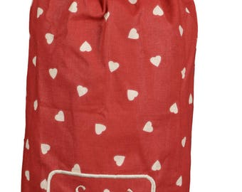 """Bag """"Bags"""" fabric """"Red hearts"""""""