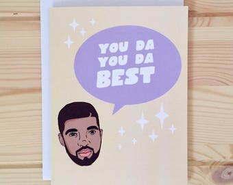 Drake Thank You Card - Drake You Da Best card, Champagne Papi Card, OVO hip hop card