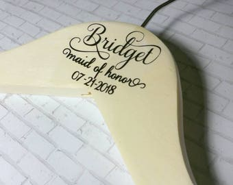 Wedding Day Hangers, Bridesmaid Hangers