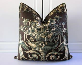 """Vervain Decorative Pillow Cover-""""Garden of Cherubs"""" Handprint-20x20"""
