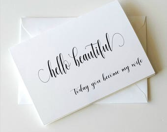 To my Bride on our wedding day Card, To my Bride Card, Wedding Day Card Bride, Bride Card, Simplicity Collection _ HON01