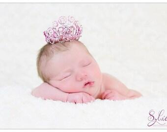 "Princess Crown ""Amandine"", pink and white"