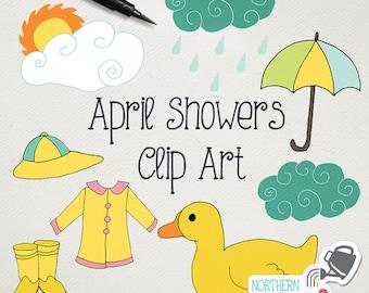 april clipart etsy april showers clip art black and white april showers clip art girls