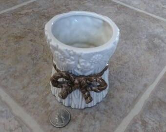 Fitz and Floyd Vase, Cream Ceramic Vase, Sunflower Vase, Farmhouse Decor, Vintage Vase, 1970s Vase, Collectible Vase, Farmhouse Vase, Gift