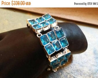 Holiday SALE 85 % OFF Apatite Bracelet Gemstone Sterling  Silver