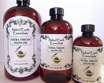 100% Extra Virgin Olive Oil Unrefined Naked Earth Essentials