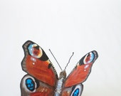 Wood Wasp and Peacock Butterfly Scrap Metal Sculptures - Deposit